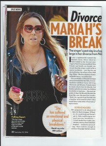 Life & Style Magazine about Mariah Carey