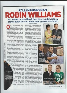 The Death of Robin Williams - Closer Magazine